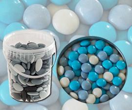 Bruidsuiker confetti blauw mix 850gr