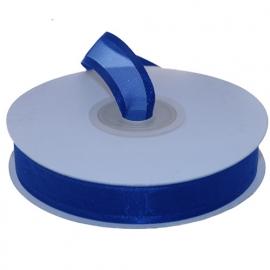 Organza lint met boord Blauw 15mm-25m
