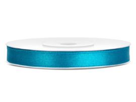 Satijn lint turquoise 6 mm