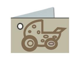 Naamkaartje wieg ivoor
