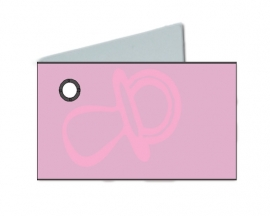 Naamkaartjes Effen licht rose+licht roze fopspeen 8 pakjes 32st