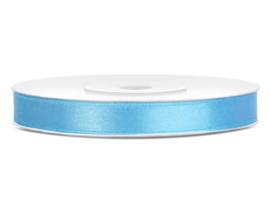 Satijn lint licht blauw 6 mm