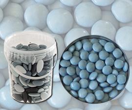 Bruidsuiker confetti licht blauw 850gr