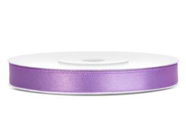 Satijn lint lilla 6 mm