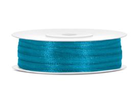 Satijn lint Turquoise 3 mm op 50 m