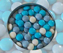 Doopsuiker lentilles blauw mix