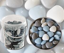 Bruidsuiker hartjes blauw mix emmer 900gr