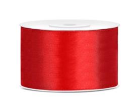 Satijn lint rood 38 mm