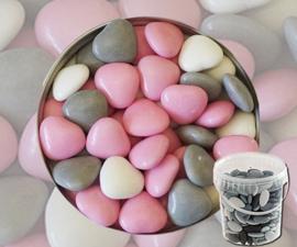Suikerbonen hartjes roze mix 450 gr