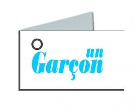 Naamkaartjes Wit+un garçon 8 pakjes van 32st