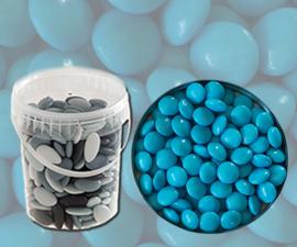 Bruidsuiker confetti turquoise emmer 850 gr