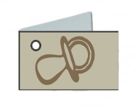 Naamkaartjes Effen ivoor+ivoren fopspeen 8 pakjes 32st