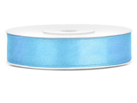 Satijn lint licht blauw 12 mm