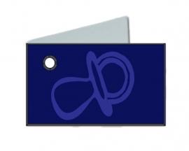 Naamkaartjes Effen marine blauw+marine fopspeen 8 pakjes 32st