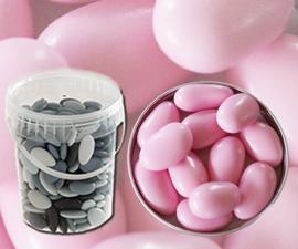 Bruidsuiker amandel roze emmer 850gr