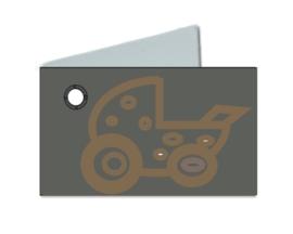 Naamkaartje wieg grijs
