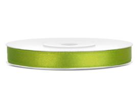 Satijn lint appel groen 6 mm