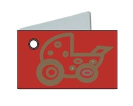 Naamkaartje wieg rood