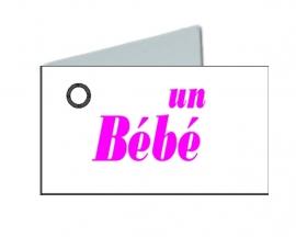 Naamkaartjes Wit+une bébé 8 pakjes van 32st