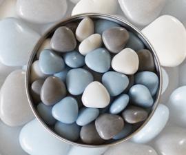 Doopsuiker hartjes licht blauw mix