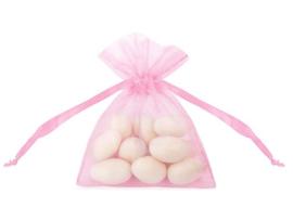 Organza zakjes roze 10st