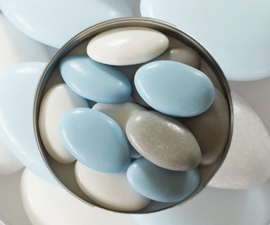 Suikerbonen licht blauw mix emmer 450 gr
