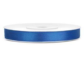 Satijn lint cobalt blauw 6 mm