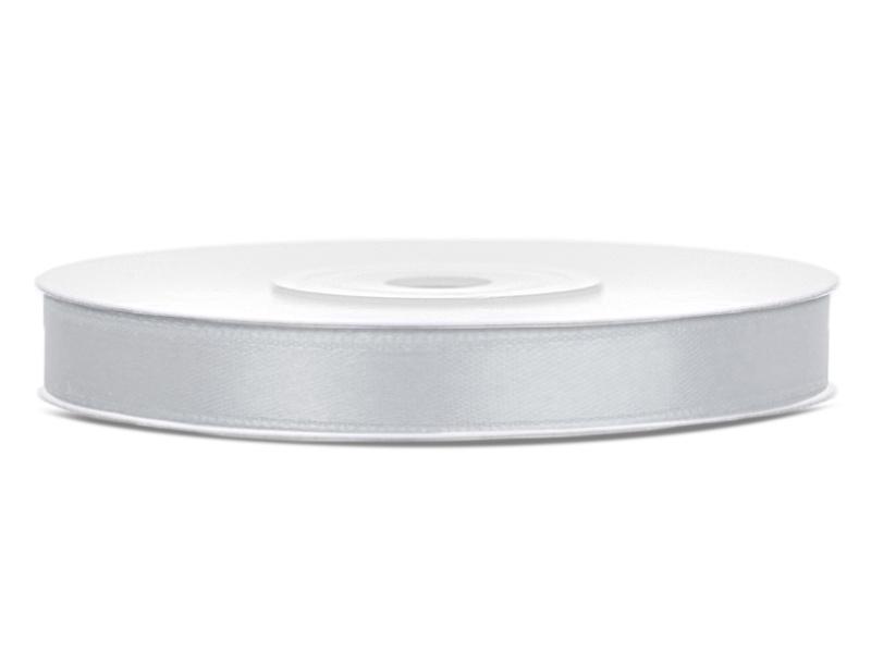 Satijn lint grijs 6 mm