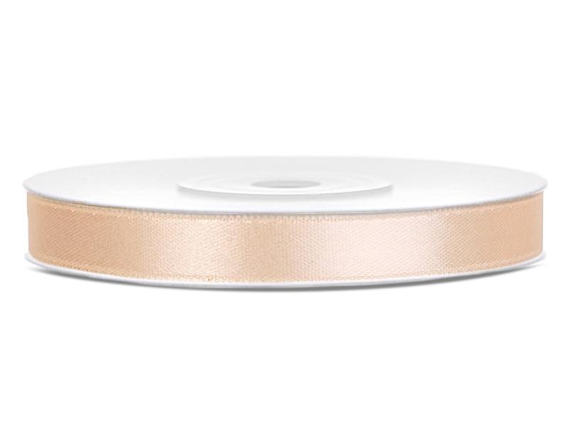 Satijn lint ivoor 6mm
