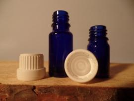 Fles Blauw Glas 5 ml