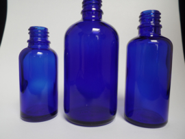 Fles Blauw Glas 30 ml
