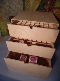 > Opberg Kistjes en Display in hout