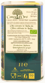 Conca d'Oro - Olio di Oliva Extravergine - Blik 1 of 3 Lt