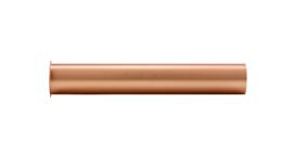 sifon-verlengbuis 20cm met kraag geborsteld koper