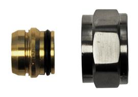 Riko adaptor eurokonus/knel 15mm geborsteld staal