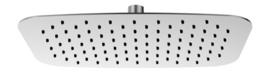 Wiesbaden UFO ovale hoofddouche 30x20x0,2cm geborsteld staal