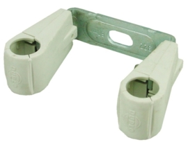 Duplo KS dubbele pijpbeugel 15 mm of 22 mm, kunststof