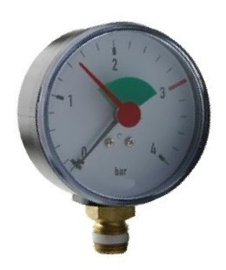 "Watts CV-manometer 63 A.1/4"" 4 bar + groen veld"