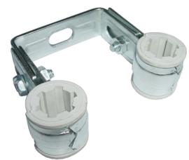 CV-Beugel + inlage 15 mm of 22 mm, dubbel verzinkt