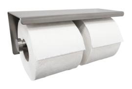 Brush dubbele toiletrolhouder RVS