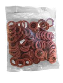 zakje a 100 stuks fiber pakkingsringen rood 3/4'' 24x18x2