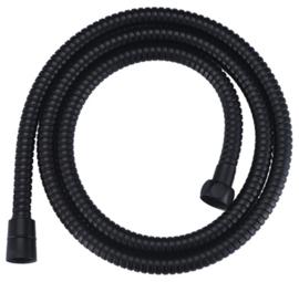 luxe metalen doucheslang 150cm conisch mat-zwart