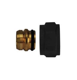 Riko adaptor eurokonus/knel 15mm mat-zwart