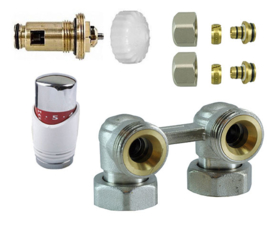 paneel-aansluitset thermostatisch haaks