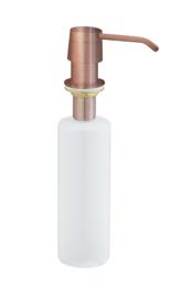 inbouw zeeppompje geborsteld koper kunststof fles 250ml