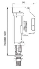 """Wiesbaden vlotterkraan met onderaansluiting 3/8"""""""