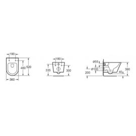 Wiesbaden Vesta Rimless wandcloset 52 cm + Flatline softclose zitting