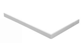 Voorzetpaneel + poten tbv douchebak acryl 160x90x4 wit