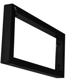 mat-zwarte vierkante supportbeugel 46x22