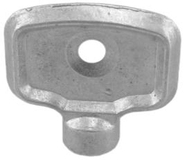 Radiator ontluchtings-sleutels, metaal